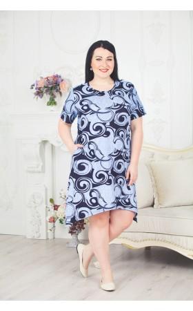 Платье Кружок голубое