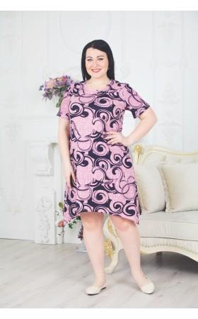 Платье Кружок розовое