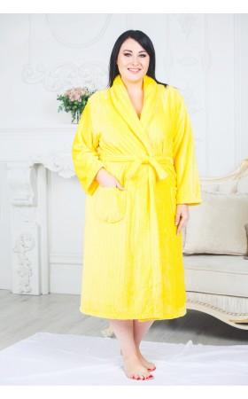 Халат Лера желтый